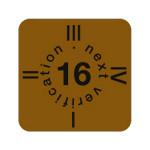 """ESD Folien-Fälligkeitsaufkleber """"2016"""" für ESD-Arbeitsplätze, englisch, 15 x 15 mm (30 Stück)"""