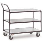 fetra ESD Tischwagen 1850 mit 3 Böden, 850 x 500 mm, 300 kg