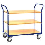 fetra Tischwagen 1800 mit 3 Etagen, 850 x 500 mm, 200 kg