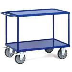 fetra Tischwagen 2400 W mit 2 Böden, 850 x 500 mm, 400 kg