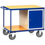 fetra Werkstattwagen 2432 mit 1 Schrank + 2  Ladeflächen, 1050 x 700 mm, 500 kg