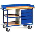 fetra Werkstattwagen 2437 mit Arbeitsplatte 1120 x 650 mm, 400 kg