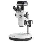 Kern Stereo-Zoom-Mikroskop OZP 558C832, mit Kamera, USB 3.0, 0,6x-5,5x