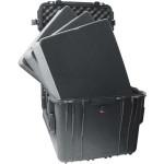Peli Schutzkoffer 0370 Cube Case mit Schaum, schwarz