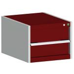 bott cubio Schubladenschrank SL 554-1.1, 1 Schublade, 525 x 525 x 400 mm, purpurrot