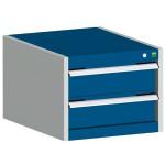 bott cubio Schubladenschrank SL 554-2.1, 2 Schubladen, 525 x 525 x 400 mm, enzianblau