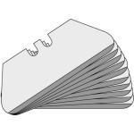 Lutz Sicherheits-Trapezklingen ST 65, 0,65 mm, Standard, 100 Stück