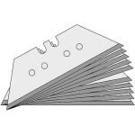 Lutz Trapezklingen T40, 0,4 mm, Standard, 100 Stück