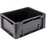 WEZ BLACKLINE® ESD-Eurobehälter Futura, 400 x 300 x 175 mm