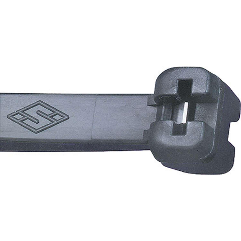 Kabelbinder mit Stahlnase MET.3.2111R, 200 x 3,5 mm, schwarz, 100 Stück