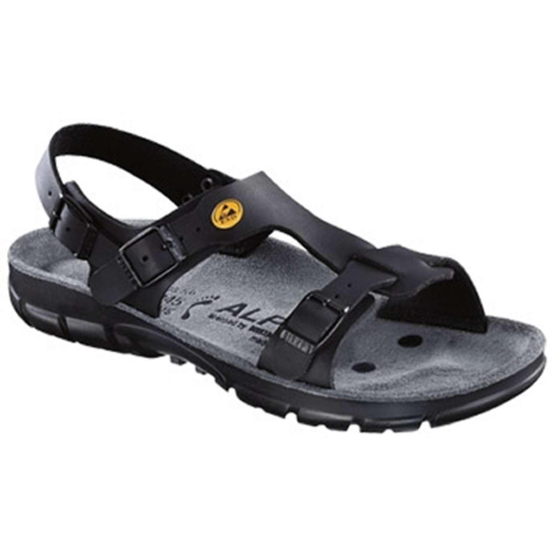 alpro damen herren sandale protec s 100 esd schmale form schwarz. Black Bedroom Furniture Sets. Home Design Ideas